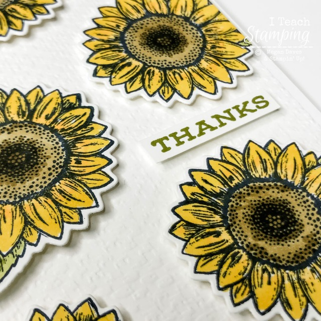 DIY Sunflower thank you cards