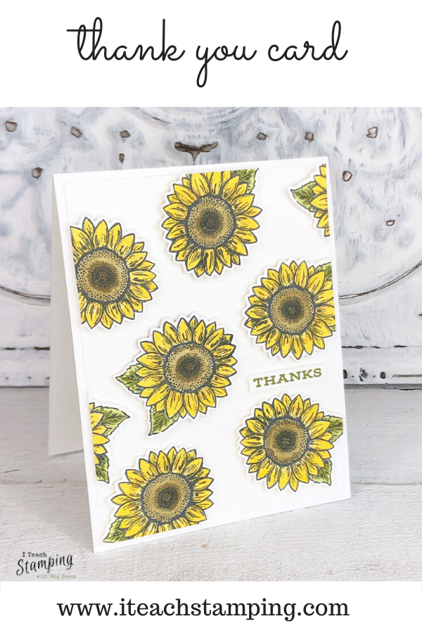 Sunflower thank you cards that are always in season!
