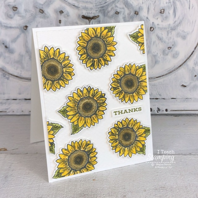 Sunflower thank you cards that are so easy to make - come see!