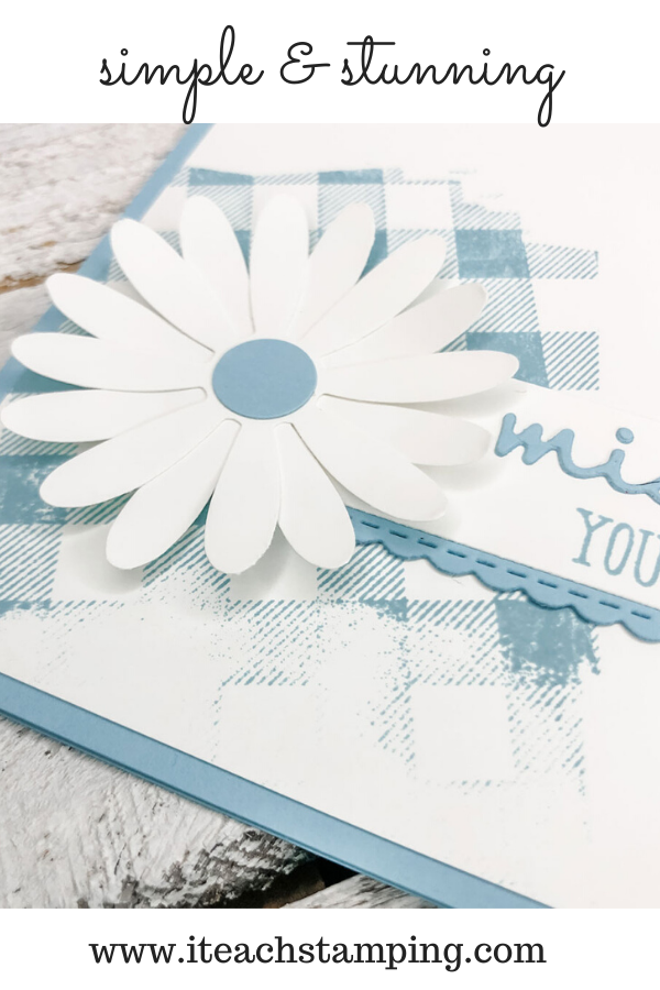 Check out this adorable die cut daisy that is part of a super simple card design you will use over and over!