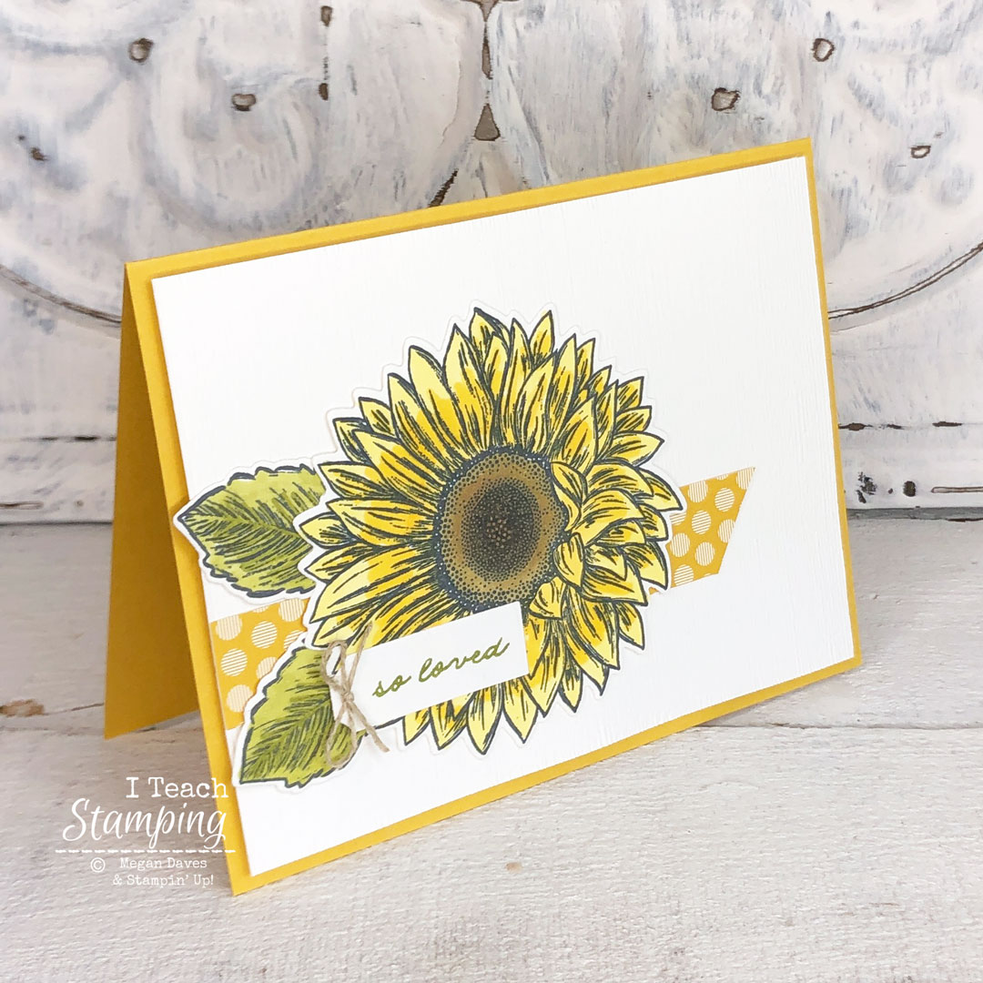 This sunflower card only LOOKS like it took a long time - come see how easy it is to make!