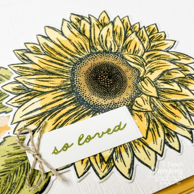 WOW! A closeup of this sunflower card showing the coloring details - come see the whole thing!