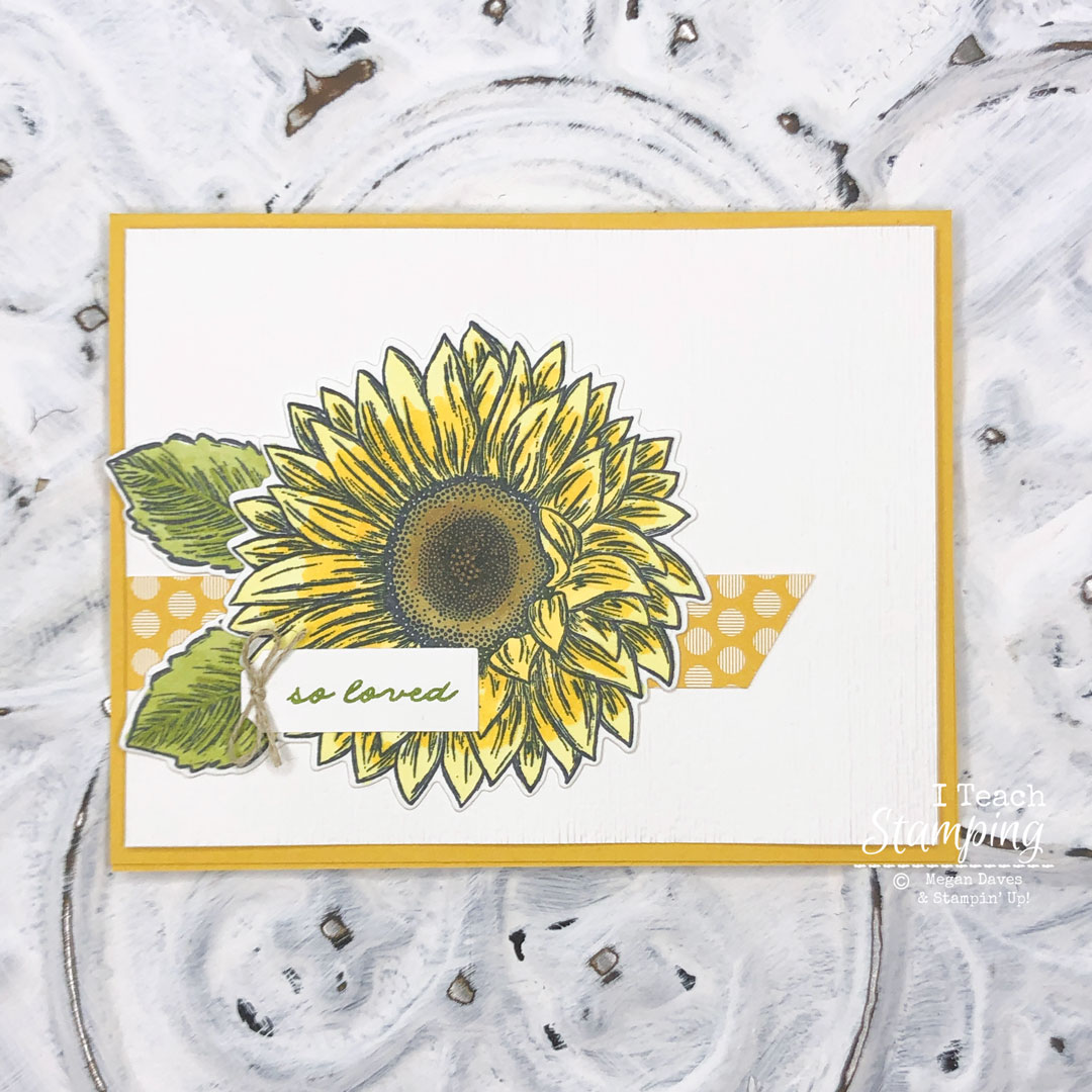 How much do you LOVE this sunflower card? Come see how easy it is to make!