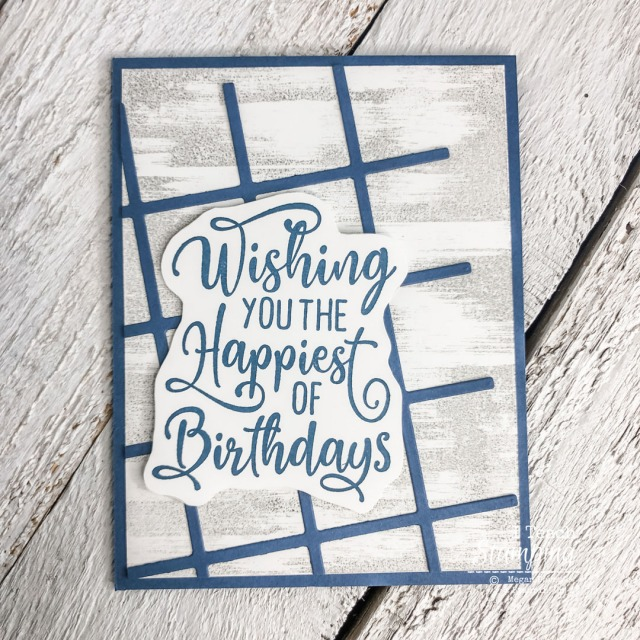 These Easy Handmade Birthday Cards feature a tilted grid and a super cool tip for mounting a greeting - check it out!
