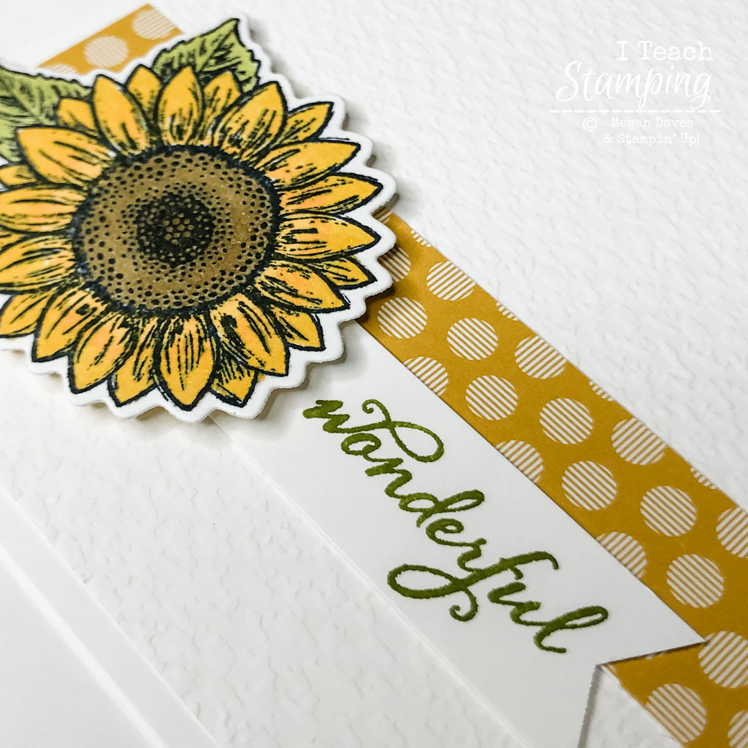 This super closeup of the focal element on this Simple Greeting Card shows why this card is so gorgeous!