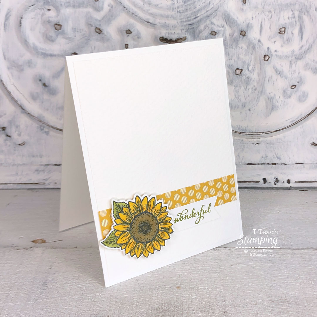 A Simple Greeting Card featuring texture and a sunflower focal element is just stunning!