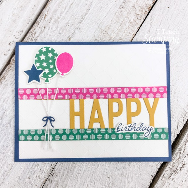 Come get the details on this adorable birthday card using the Stampin' Up! In Colors 2020-2022!