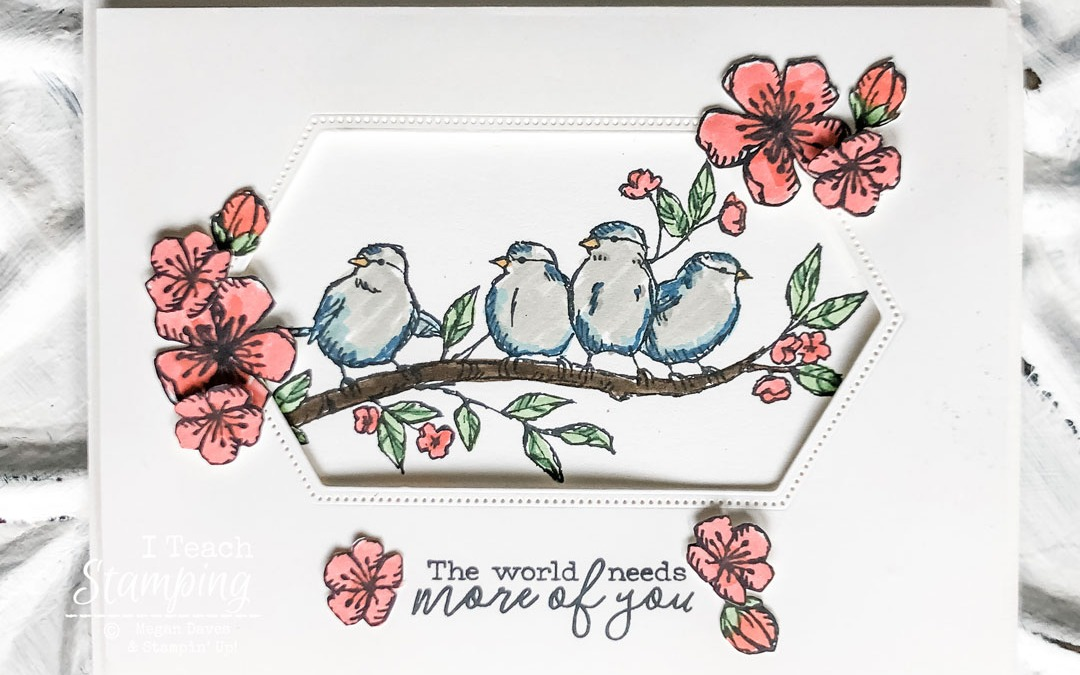 A Bird Card With A Peek-Through Window