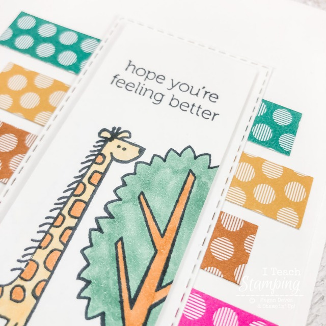Do you send handmade get well soon cards? If so you have to see this fasy and easy card made mostly with scraps!