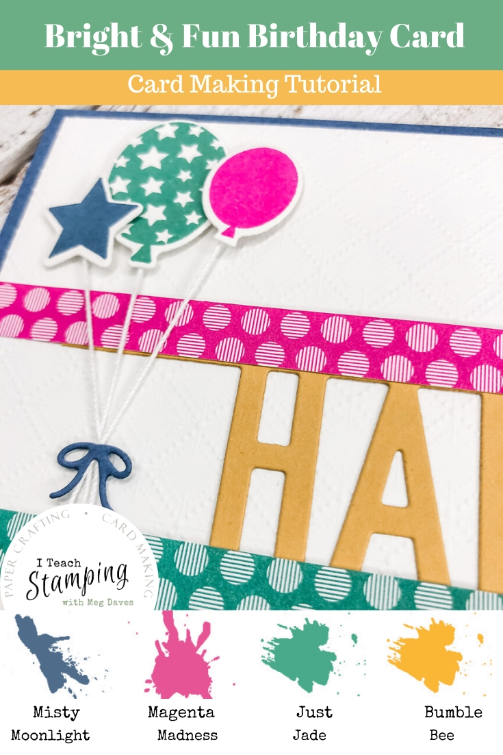 Come see why the Stampin' Up! In Colors 2020-2022 are so HOT right now - this birthday card shows them off!