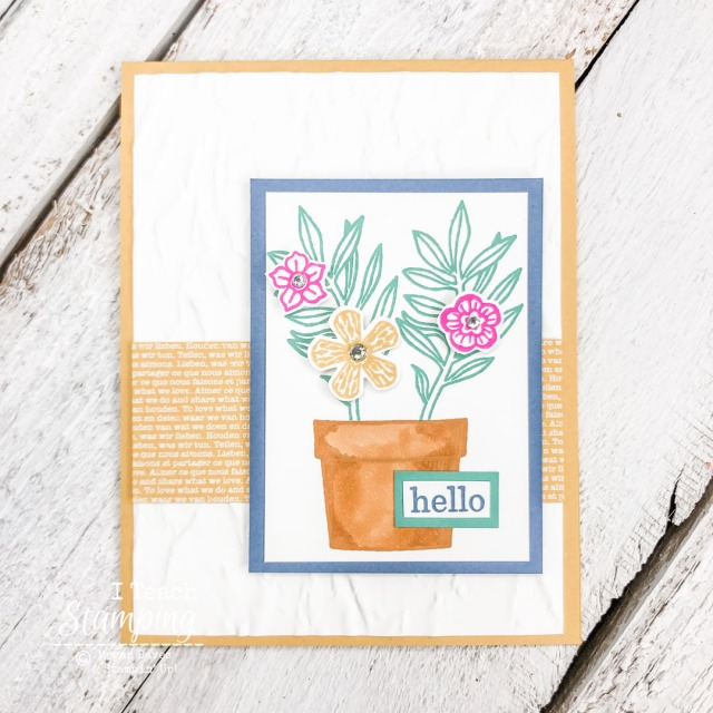 The New Stampin' Up! In Colors work so well together - see the details on how to make this card!