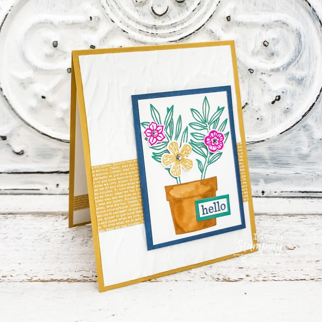 Come see the New Stampin' Up! In Colors featured in this simple pretty card!