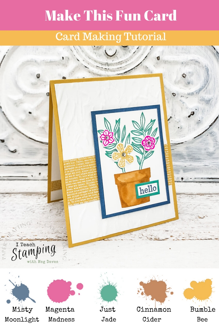 Come learn how to make this easy but oh-so-pretty card using the New Stampin' Up! In Colors!