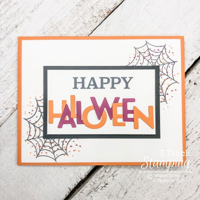 DIY die cut letter cards featuring fun Halloween colors and adorable spider webs