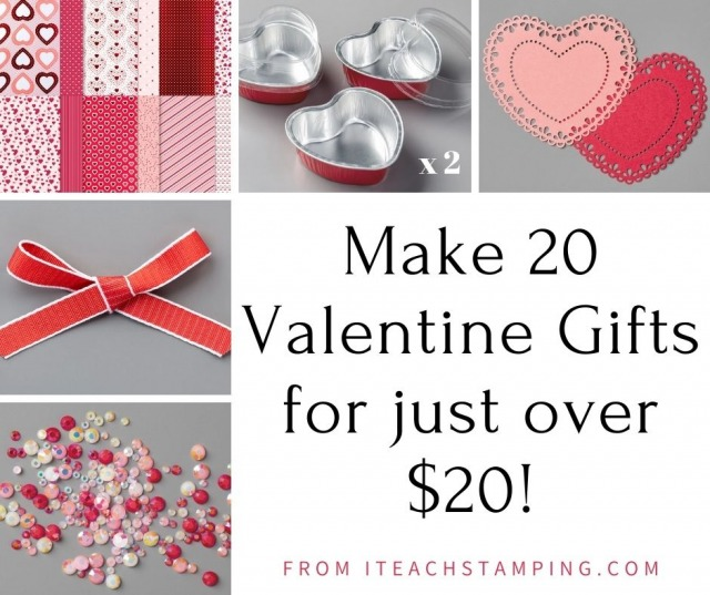 A collection of several papercrafting items making up an October Valentine's Day deal at rock bottom prices