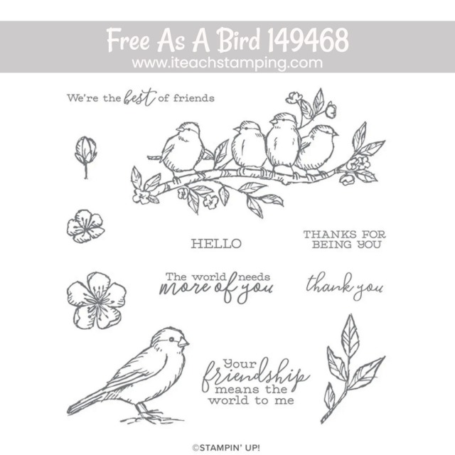 an image of a stamp set from Stampin' Up! featuring motifs perfect for making a greeting card for friend wishes