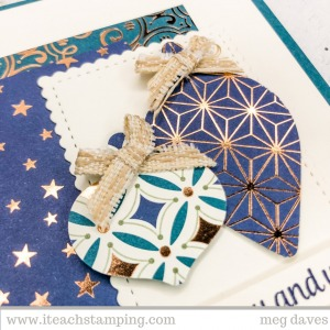 Pretty and Elegant Handmade Christmas Card