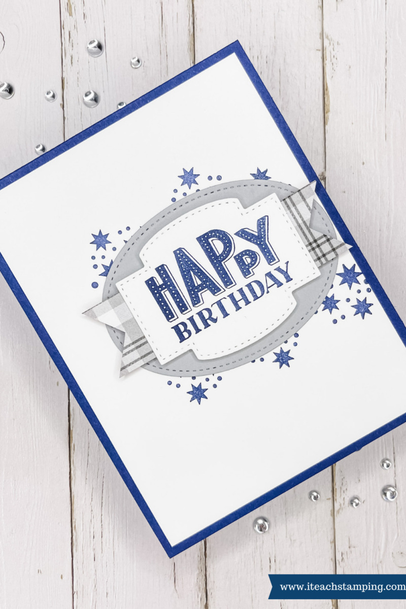 Simple handmade masculine card using just a few paper crafting supplies