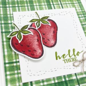 Sweet Strawberries to Make a Handmade Card