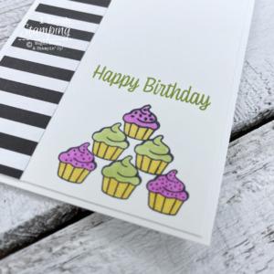 Cute Handmade Card with Cupcakes!