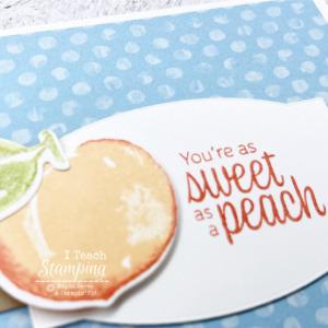 Sweet as a Peach Handmade Card