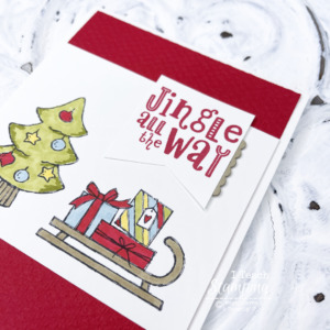 Handmade Christmas Card With a Bit of Coloring